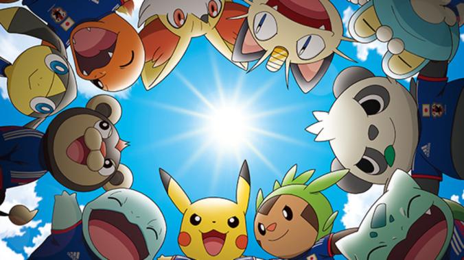 Pokemon mascots Japan World Cup 2014