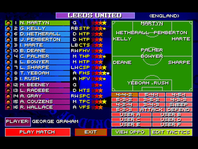 Sensible World Of Soccer 96-97