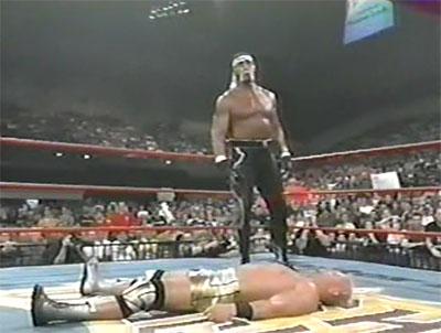 Jeff Jarrett lays down Hulk Hogan