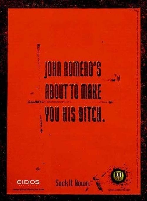 John Romero Daikatana poster bitch