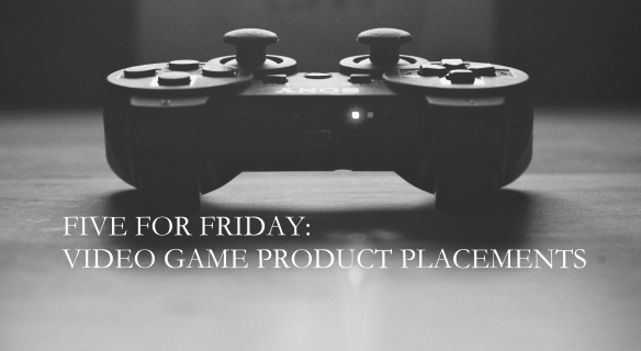 five for friday video games product placement