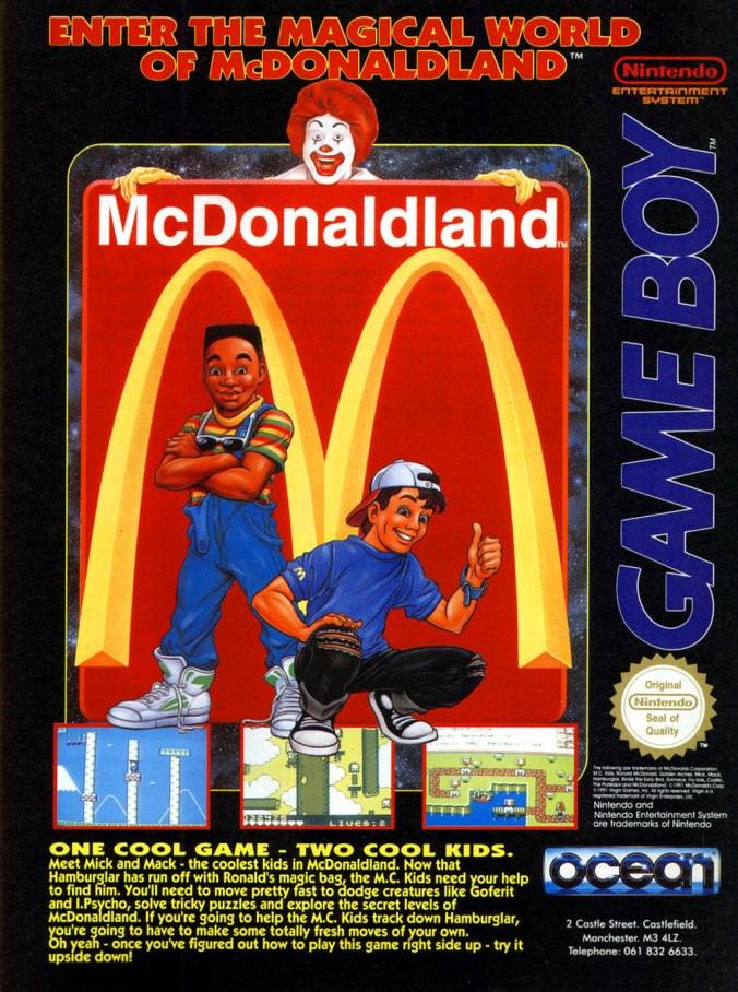 mcdonaldland video game product placement