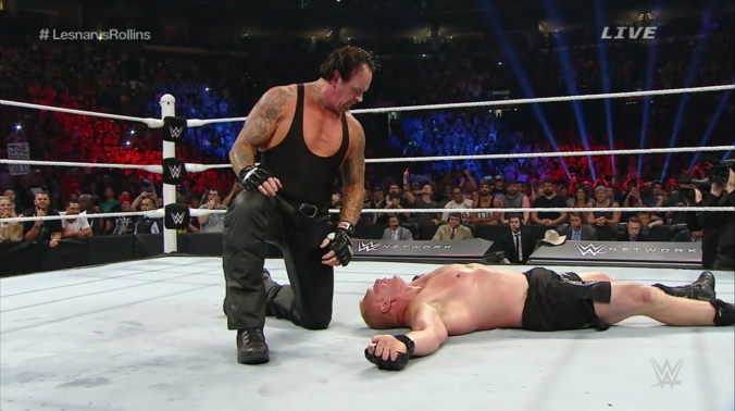 undertaker brock lesnar summerslam 2015
