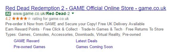 game retail pre order