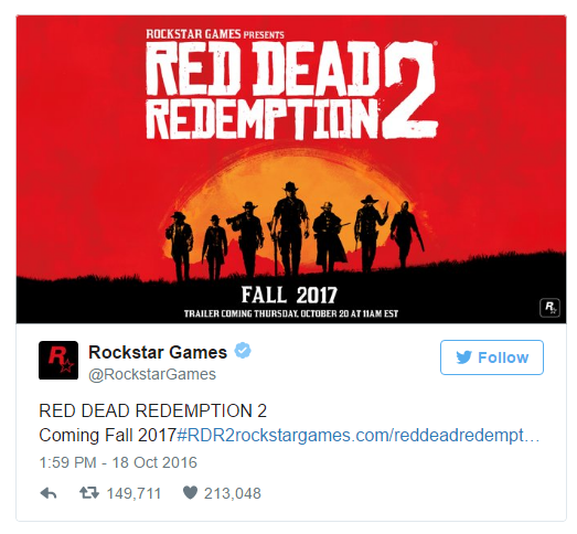 red dead redemption 2 announcement